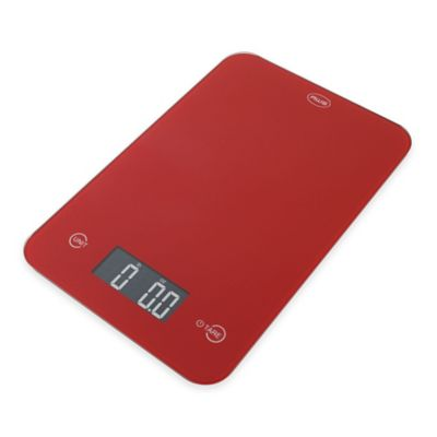 American Weigh ONYX Slim Kitchen Scale in Red