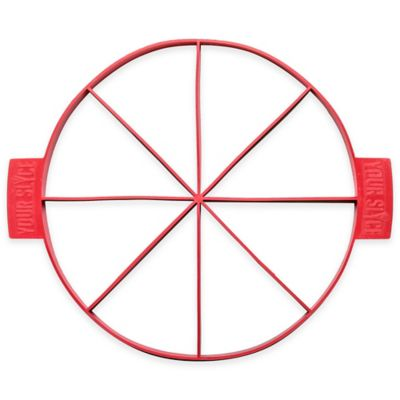 Your Slyce 14-Inch Customizable Pizza Making Tool in Red