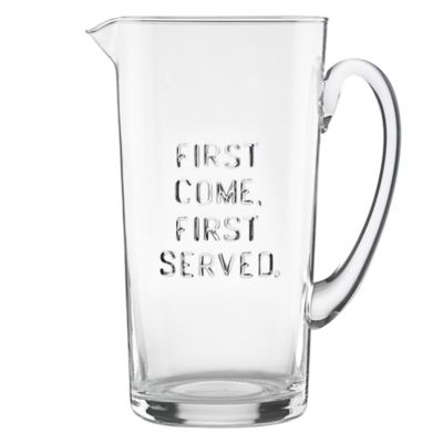 "kate spade new york All In Good Taste ""First Come First Served"" Pitcher"