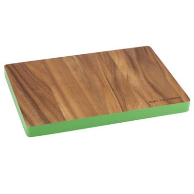 "kate spade new york All In Good Taste ""Don't Cut Corners"" Wood Cutting Board in Green"