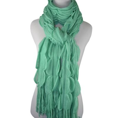 Scallop Edge Scarf in Mint