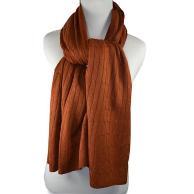 Cable Muffler Scarf in Rust