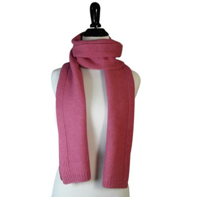 All Around Rib Scarf in Pink