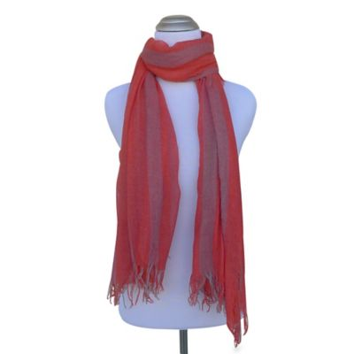 Boho Faded Bands Scarf in Passion
