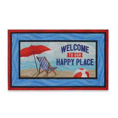 Mohawk Home Our Happy Beach Place 20-Inch x 30-Inch Door Mat