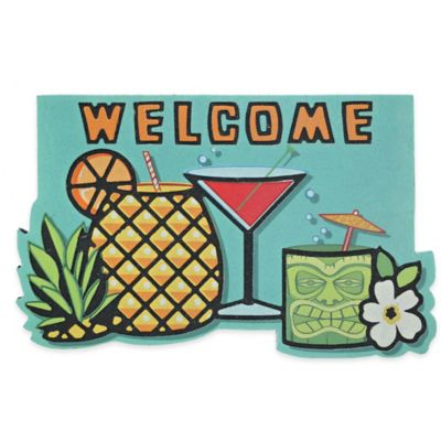 Mohawk Home Tiki Drink Party 18-Inch x 30-Inch Door Mat