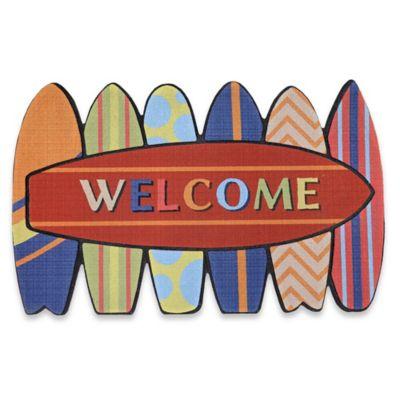 Mohawk Home Summertime Surf Welcome Coir Door Mat