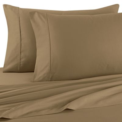 Brookstone® BioSense® 500-Thread-Count Standard Pillowcases in Taupe (Set of 2)