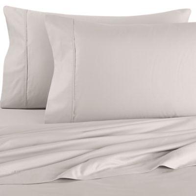 Brookstone® BioSense® 500-Thread-Count Standard Pillowcases in Silver (Set of 2)