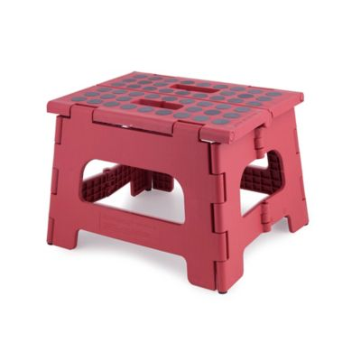 Kikkerland® Design Rhino II Step Stool in Pink