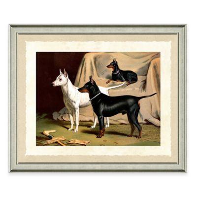 Dog Scene I Framed Art Print