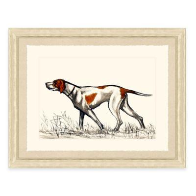 Hunting Dog I Framed Art Print