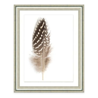 Neutral Feather I Framed Art Print