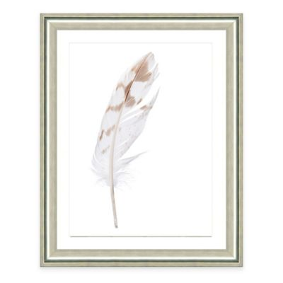 Neutral Feather IV Framed Fine Art Print