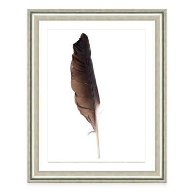 Neutral Feather VI Framed Fine Art Print