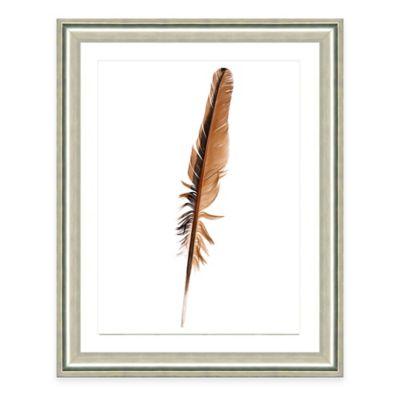 Neutral Feather VII Framed Fine Art Print