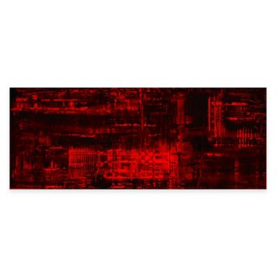 Aporia Urban Abstract Metal Wall Art in Red