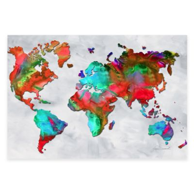 Beauty of Color v2.5 Rainbow Map Print on Metal