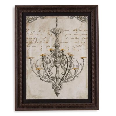 Chandelier I Framed Art Print