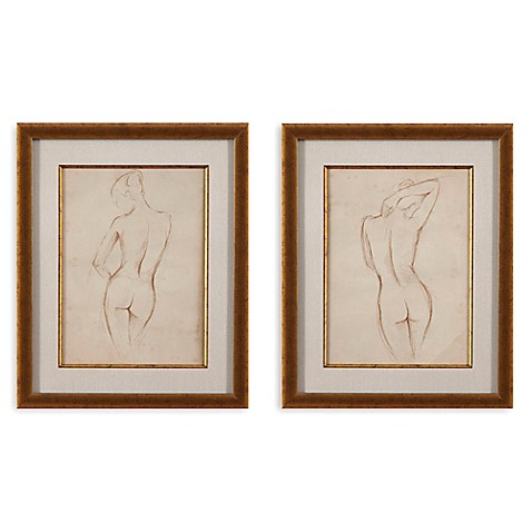 Antique Figure Study Print Framed Wall Art Bed Bath Amp Beyond