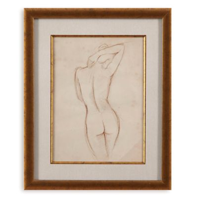 Antique Figure Study I Print Framed Wall Art