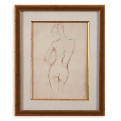 Antique Figure Study II Print Framed Wall Art