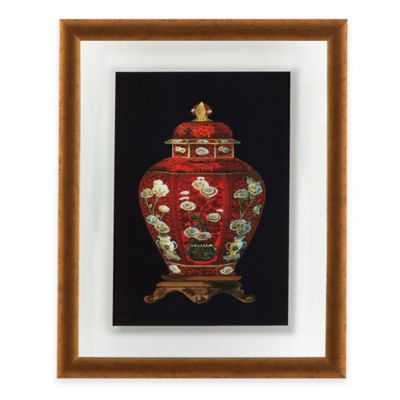 Red Porcelain Vase I Print Framed Wall Art