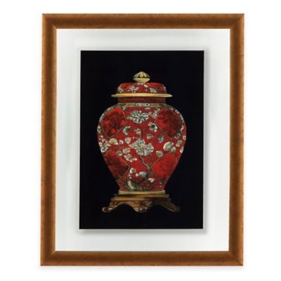 Red Porcelain Vase II Print Framed Wall Art