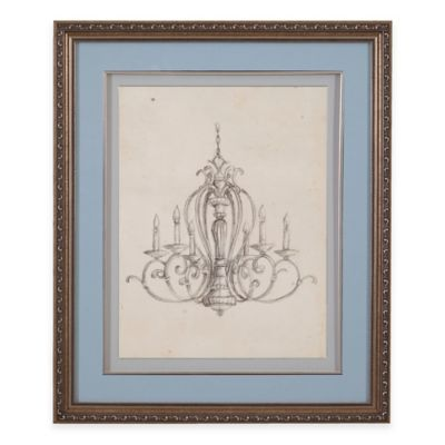 Classic Chandelier I Print Framed Wall Art