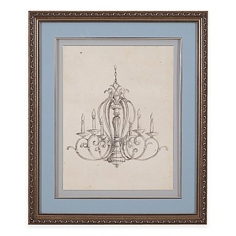 Buy Classic Chandelier I Print Framed Wall Art From Bed