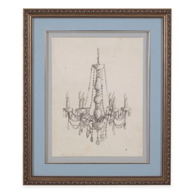 Classic Chandelier II Print Framed Wall Art