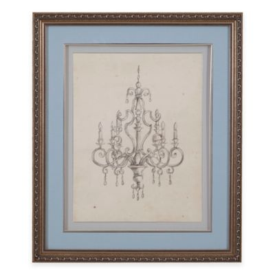 Classic Chandelier III Print Framed Wall Art