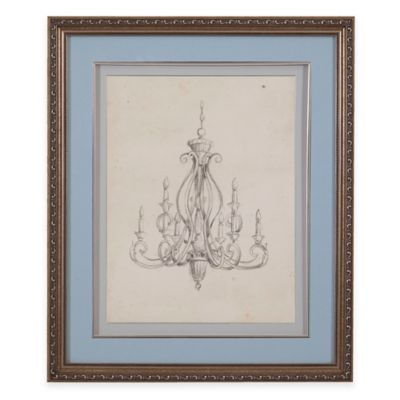 Classic Chandelier IV Print Framed Wall Art