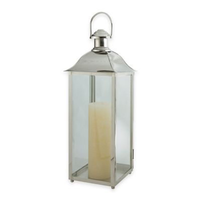 Cambridge Carriage 24-Inch Lantern Candle Holder in Nickel