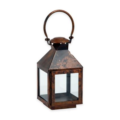 Cambridge Classic 11-Inch Lantern Candle Holder in Brushed Copper