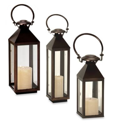 Cambridge Classic 20-Inch Lantern Candle Holder in Bronze
