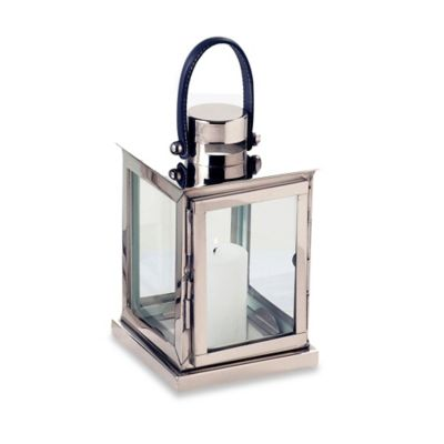Cambridge Showcase 12-Inch Lantern Candle Holder in Nickel