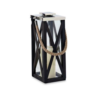 Cambridge Showcase 18-Inch Lantern Candle Holder in Nickel