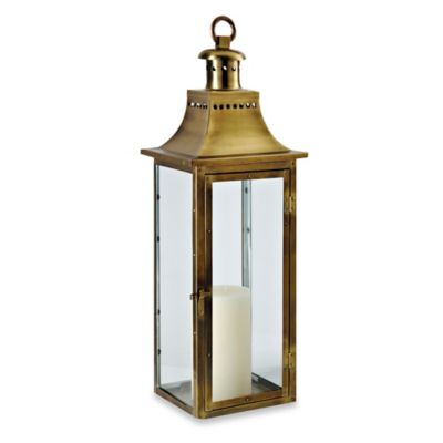 Cambridge Traditions 24-Inch Lantern Candle Holder in Antique Brass