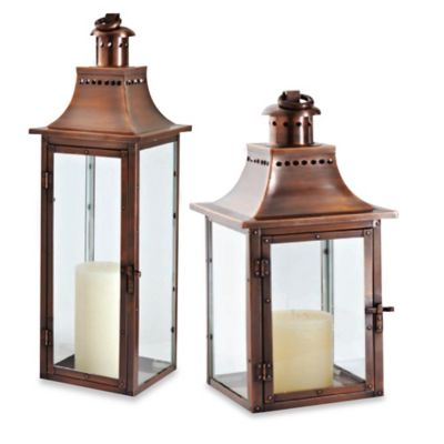 Cambridge Traditions 24-Inch Lantern Candle Holder in Antique Copper