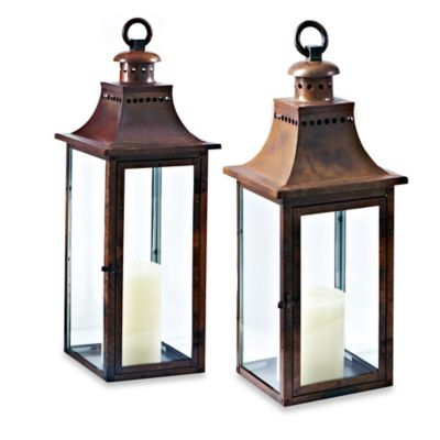 Cambridge Traditions 30-Inch Lantern Candle Holder in Burnished Copper