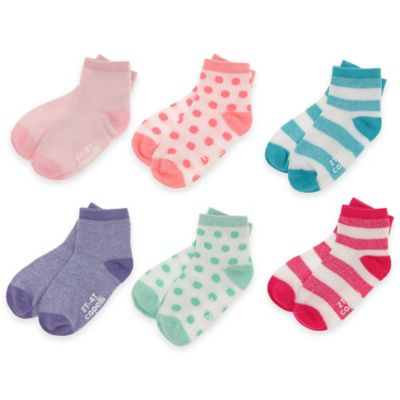 Capelli New York Size 3-12M 6-Pack Marled and Solid Crew Socks in Multi Combo