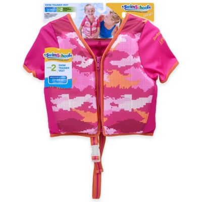 Aqua Leisure® Size S/M Girls' Short Sleeve Camo Swim Vest in Pink