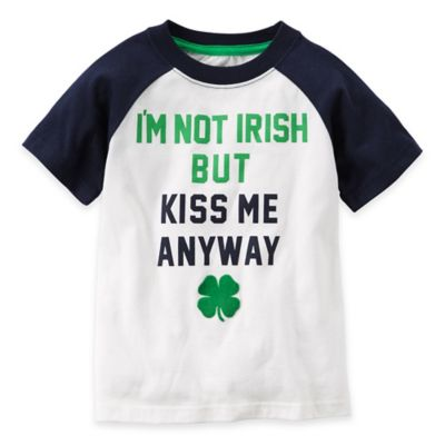 "carter's® Size 12M ""I'm Not Irish"" Tee in White/Black"