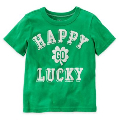 "carter's Size 12M ""Happy Go Lucky"" Tee in Green"