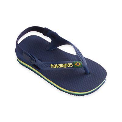 Havaianas Kids® Baby Brazil Logo Sandal in Navy