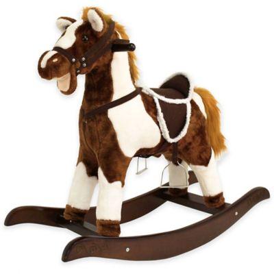 Tek Nek Rockin' Rider Patriot Rocking Horse in Brown
