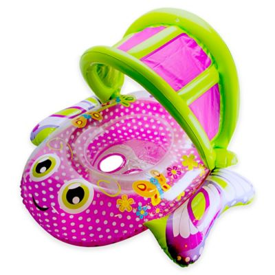 Aqua Leisure® Bouncing Butterfly Baby Boat in Pink/Green