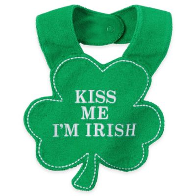 "carter's® ""Kiss Me I'm Irish"" Bib in Shamrock Green"