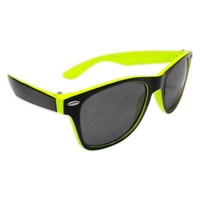 On The Verge Wayfarer Sunglasses in Black/Lime